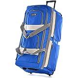 """Olympia 29"""" Pocket Rolling Duffel Bag, Royal Blue (Blue) - SRD-29-RB"""