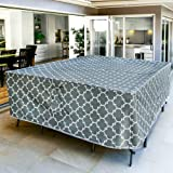Harlie & Stone Outdoor Table Cover Rectangle - Heavy Duty, Sun and Fade Resistant, Stylish 600D Patio Table Covers Waterproof