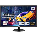 ASUS VP248QG, 24 Inch FHD (1920 x 1080) Gaming Monitor, 1 ms, Up to 75 Hz, DP, HDMI, D-Sub, FreeSync, Low Blue Light, Flicker