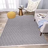HEBE Cotton Area Rug 4' x 6' Machine Washable Reversible Indoor Area Rug/Mat Hand Woven Cotton Area Rugs for Living Room, Bed