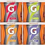 Gatorade - 3944 Powder Variety Pack (Lemon-Lime, Orange, Fruit Punch, Riptide Rush), 21-Ounce Pouches (Pack of 32)