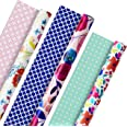 Hallmark 5EWR2433 All Occasion Reversible Wrapping Paper for Birthdays, Bridal Showers, Baby Showers, Mothers Day, and More (