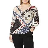 Desigual Women's JERS_Bergen Pullover Sweater, Multi-Coloured