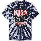 Liquid Blue Unisex-Adult 11981 Kiss Destroyer 1976 Tie Dye Short Sleeve T-Shirt Short Sleeve T-Shirt - Multi