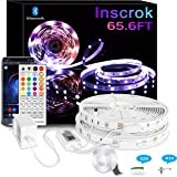 Bluetooth LED Strip Lights 20m - Music Sync LED Light Strip Controlled by Smart light for Phone APP -600 beads led lights mus