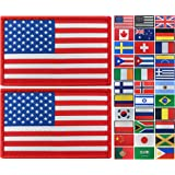 JBCD 2 Pack USA Flag Patch American Flags Tactical Patch Pride Flag Patch for Clothes Hat Patch Team Military Patch