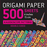 """Origami Paper 500 sheets Kaleidoscope Patterns 6"""" (15 cm): Tuttle Origami Paper: High-Quality Origami Sheets Printed with 12 Different Designs: Instructions for 8 Projects Included"""