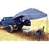 多目的車タープ引き裂き抵抗 サイドオーニングキャンプ 車中泊 簡単な設置2つの土嚢を含む