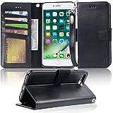 【Amazon限定ブランド】iphone 8 plus ケース 手帳型 iphone 7 plus ケース - スマホケース iphone8plus/ iphone7plus ケース 【横置き機能 ストラップ付 カードポケット付き】 Arae アイフ