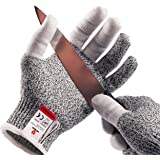 NoCry Cut Resistant Kitchen and Work Safety Gloves with Reinforced Fingers. Level 5 Protection