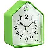 セイコー クロック 目覚まし時計 ネイチャーサウンド アナログ 切替式 アラーム PYXIS ピクシス 緑 NR434M SEIKO
