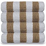 Luxury Hotel & Spa Towel 100% Cotton Pool Beach Towels - Cabana - Tan - Set of 4