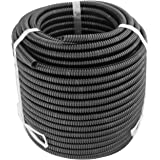 GS Power's 100 Feet Split Loom Tubing - Polyethylene High Temperature Electrical Wire/Cable Conduit (Size: 1/4 or 3/8 inch) 1