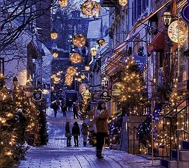 世界遺産  iPhone/Androidスマホ壁紙(960×854)-1 - クリスマスシーズンのケベック・シティー