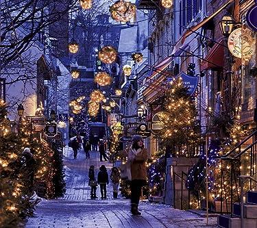世界遺産  iPhone/Androidスマホ壁紙(1080×960)-1 - クリスマスシーズンのケベック・シティー