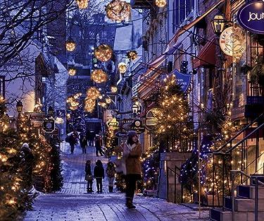 世界遺産  iPhone/Androidスマホ壁紙(960×800)-1 - クリスマスシーズンのケベック・シティー