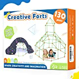 Kids-Fort-Building-Kits-130 Pieces-Creative Fort Toy for 5,6,7 Years Old Boy & Girls- Learning Toys DIY Building Castles Tunn