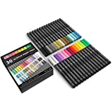 Acrylic Paint Pens 30 Assorted Markers Set 0.7mm Extra Fine Tip for Rock, Glass, Mugs, Porcelain, Wood, Metal, Fabric, Canvas