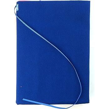 フリーサイズマガジンカバー(A5~A4サイズに対応)ノート、手帳、教科書、参考書に! (B(ブルー))