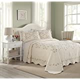 Modern Heirloom Collection Felisa Bedspread, King 120X118'', Cream