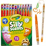 Crayola Silly Scents Twistables Crayons & Coloured Pencils, 36 Scented Crayons, 36 Scented Pencils, No Sharpening Needed, Jus