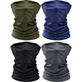 4 Pieces Thin Neck Gaiters Breathable Balaclava Face Mask Headwear Sun Protection Neck Gaiter for Summer Outdoor Activities