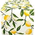DII Cotton Table Runner for Dinner Parties, Summer BBQ & Outdoor Picnics -14x108, Lemon Bliss