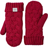 Coffee Shoppe Women's COZY Plush Textured Cable Knit Fleece Lined Mittens Gloves