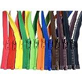 Assorted Colors Ykk #5 Vislon Separating Jacket Zippers for Sewing Coat Jacket - Plastic Zippers Bulk 5 or 10 Colors Mixed (1
