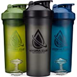 3 PACK - Extra Large Shaker Bottle, 45-Ounce Shaker Cup with Dual Blenders for Mixing Protein, from Hydra Cup