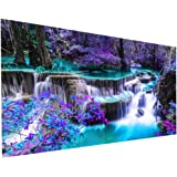 5D Diamond Painting Kits for Adults Large DIY Waterfall Full Round Drill by Number with Gem Art Drill Dotz Diamond Painting K