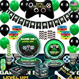 Kidohub Video Game Birthday Party Supplies, Video Game Decorations, Gamer Party Supplies, Party Tableware, Table Cloth, Birth