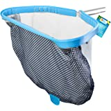 """U.S. Pool Supply Professional Heavy Duty 18"""" Swimming Pool Leaf Skimmer Rake with Deep Double-Stitched Net Bag - Strong Alumi"""