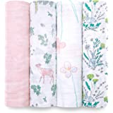 aden + anais Forest Fantasy Swaddles 4 Pack, Multi, 4 Count