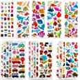 SAVITA 3D Stickers for Kids & Toddlers 500+ Puffy Stickers Variety Pack for Scrapbooking Bullet Journal Including Animal, Num