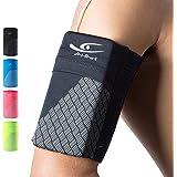 HiRui Universal Comfort Sports Armband Cell Phone Armband Running Armband, Fits All Phones, Reflective Stripes Logo, Unisex,