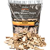 Camerons Products Alder Wood Smoker Chips - (2lb. Coarse) - 100% All Natural, Coarse Wood Smoking and Barbecue Chips - 260 cu