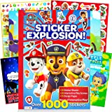 Paw Patrol Sticker Activity Book Bundle ~ Over 1000 Paw Patrol Stickers Featuring Chase, Marshall, Skye, and More with Bubble