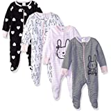 Gerber Baby Girls' 4 Pack Sleep 'N Play Footie