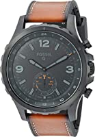 Fossil Q Nate Gen 2 Hybrid Brown Leather Smartwatch