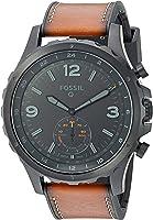 Fossil Q Nate Gen 2 Hybrid Brown Leather Smartwatch