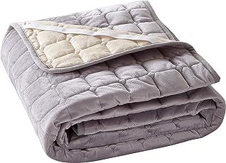 敷きパッド 敷き毛布 丸洗いできる ベッドシーツ ふんわり パイル 毛布地 防ダニ 抗菌防臭 吸汗 ズレ防止ゴムバンド付き ベッドパッド マットレス・パッド