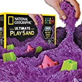 NATIONAL GEOGRAPHIC Play Sand - 6 LBS of Sand with Castle Molds (Purple) - A Kinetic Sensory Activity