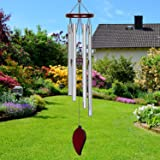 Memorial Wind Chimes Outdoor - 24 Inch with Relaxing Rich Sound, 6 Rustproof Aluminum Tubes Wooden Bell Sympathy Romantic Win