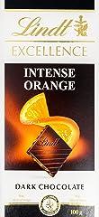 Lindt Excellence Chocolate Bar, Orange Intense Dark, 100g