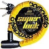 Barrichello(バリチェロ) バイクロック ワイヤーロック バイク 自転車 φ(直径)22mm×1200mm チェーンロック 盗難防止 鍵3本セット 保証付き