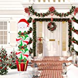 Christmas Yard Signs Stakes Decorations Xmas Plastic Yard Decor Outdoor Candy Garden Signs with Stakes for Outdoor Patio Wint