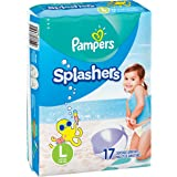 Swim Diapers Size 5 (> 31 Pound) - Pampers Splashers Disposable Swim Pants, Large (34 Count)
