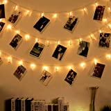 Ohbingo 12ft 30 LED Photo Clips String Lights USB Operated Twinkle Fairy String Lights with Clips for Hanging Pictures, Cards