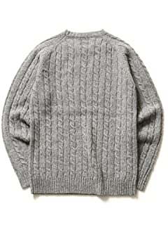 Cable Crewneck Sweater 11-15-0538-103: Grey